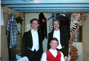 Victorian Music Hall performers, Dundee Rep, 1978, including that excellent pianist John Scrimgeour