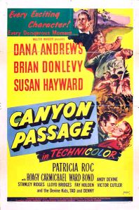 Canyon Passage 1956 poster