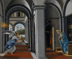 Botticelli: Annunciation (Glasgow Art Gallery)